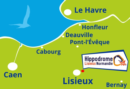 Carte Normandie Hippodrome Lisieux pays dauge