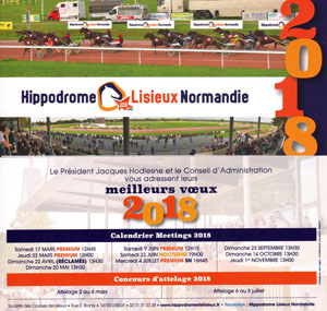 carte voeux 2018 hippodrome lisieux normandie calvados