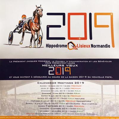carte voeux hippodrome lisieux normandie 2019